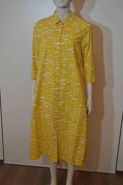 Robe legere Kleid gelb/ weiß