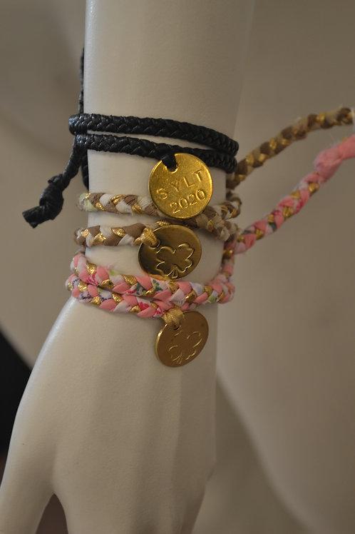 Sylt Boheme Armband mit Goldplakette