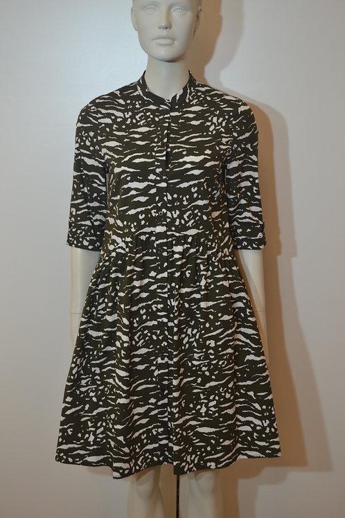 Robe legere Kleid khaki/ weiß
