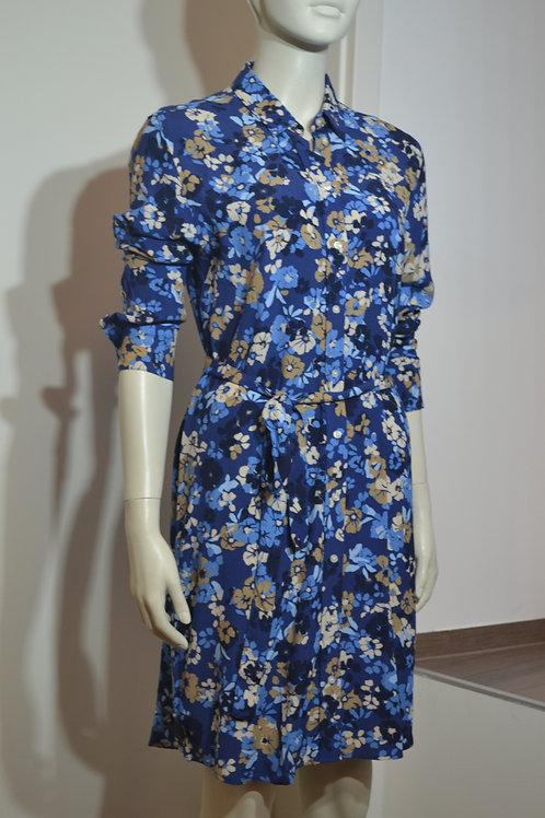 Gant Blumenkleid blau
