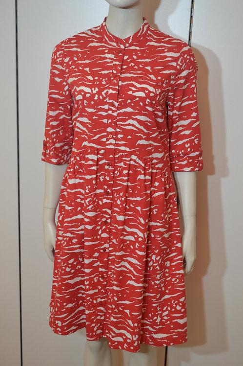 Robe legere Kleid rot/ weiß
