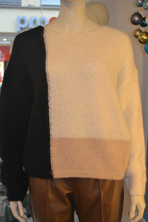 Someday Pullover schwarz/beige