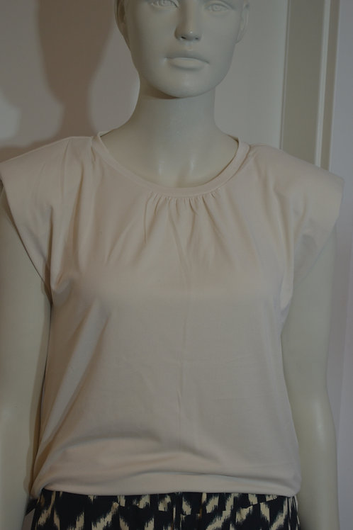 Soyaconcept Shirt creme mit Schulterpolster