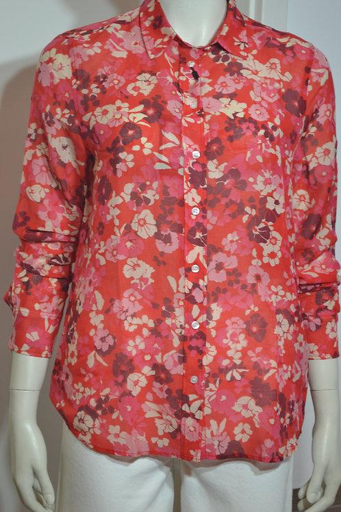 Gant Bluse rot mit Blumen
