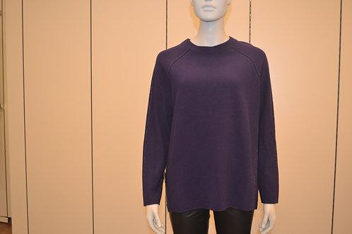Oui Pullover lila mit Steinchen seitlich