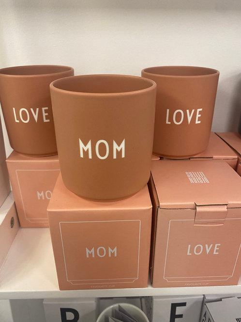 Design letters Mom/Love (Vorder-&Rückseite)