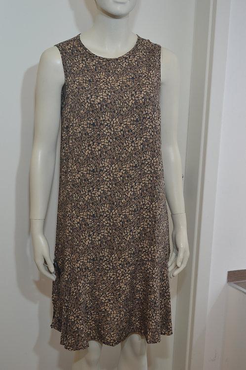 Opus Kleid schwarz/ camel gemustert