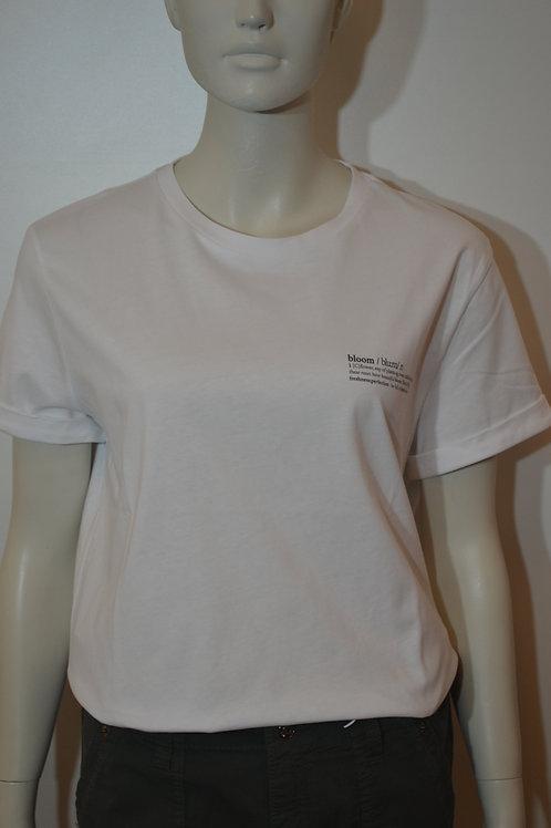 Opus T-Shirt weiß mit Aufdruck