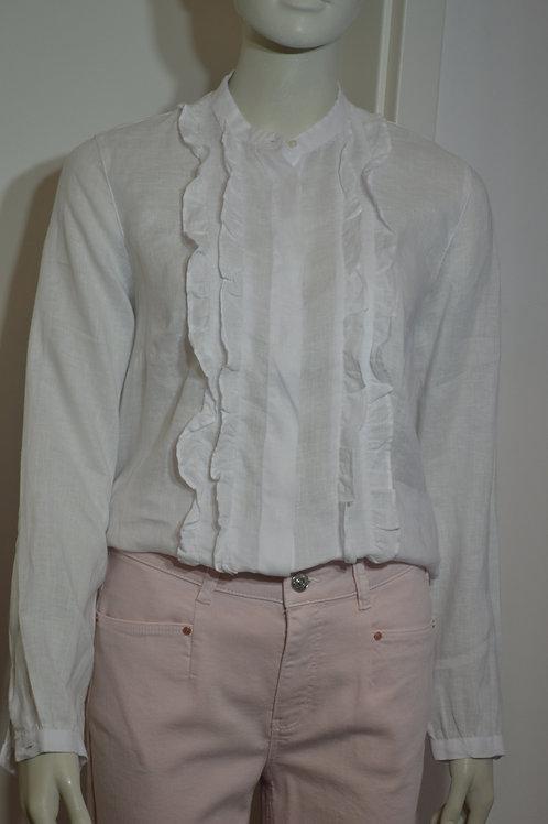 0039 Italy Bluse weiß mit Rüschen