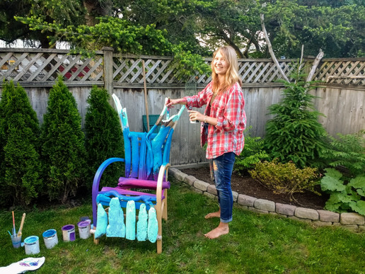 driftwood chair painting