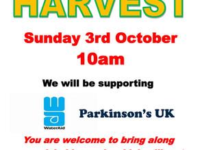3rd October Service - Harvest