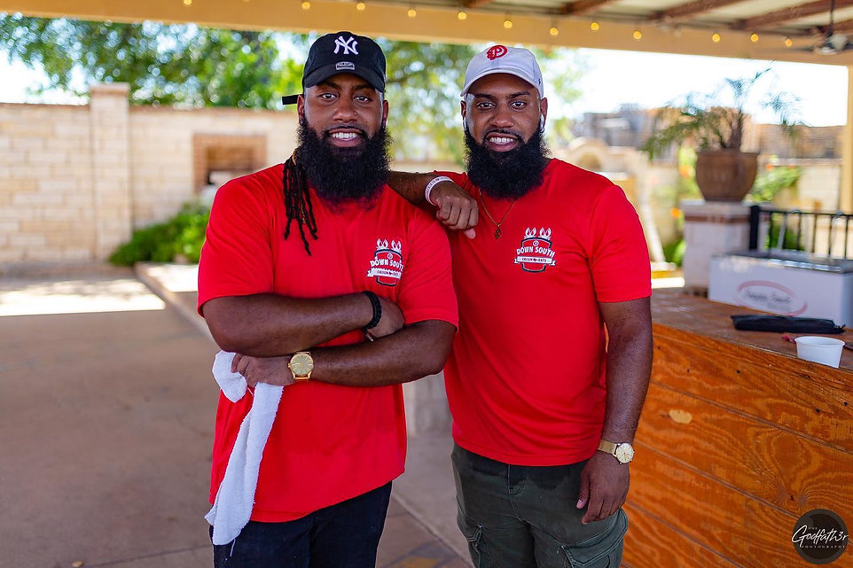jahmaal and jermain dumes owners of down south cajun eats