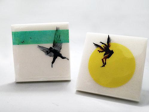 Icarian Falls Marble Coasters #1
