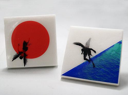 Icarian Falls Marble Coasters #2