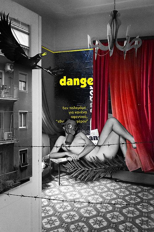 Danger Zone Bedroom Art Print