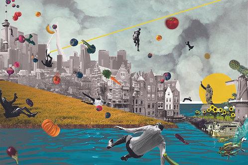Blabla A Storm in Rotterdam Art Print