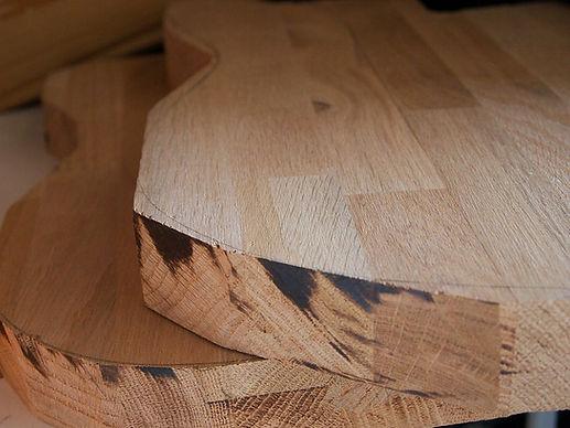 Rough-cut guitar bodies - made from reclaimed Oak Butcher Block