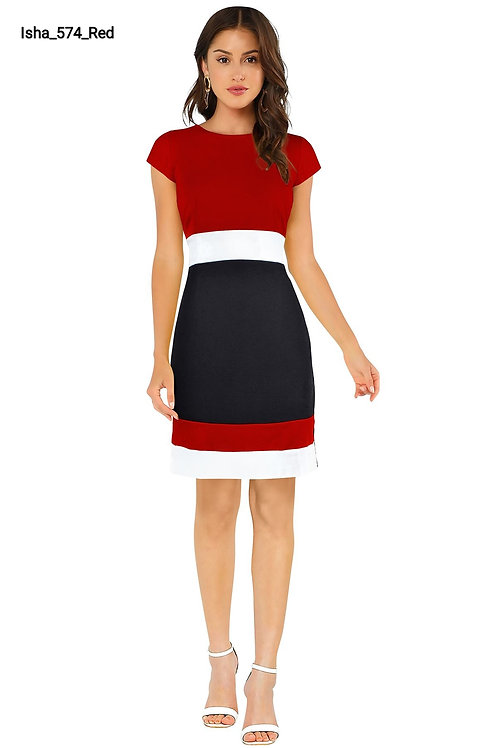 Beautiful Bodycon Dress Red Color