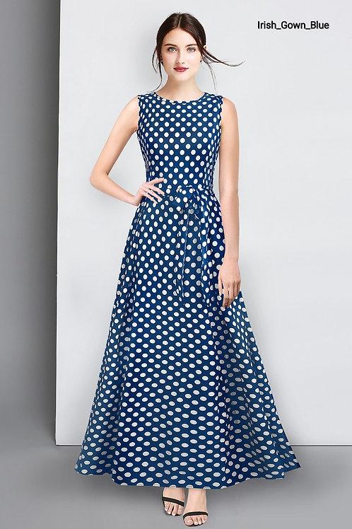 Premium Silk Irish Black Gown