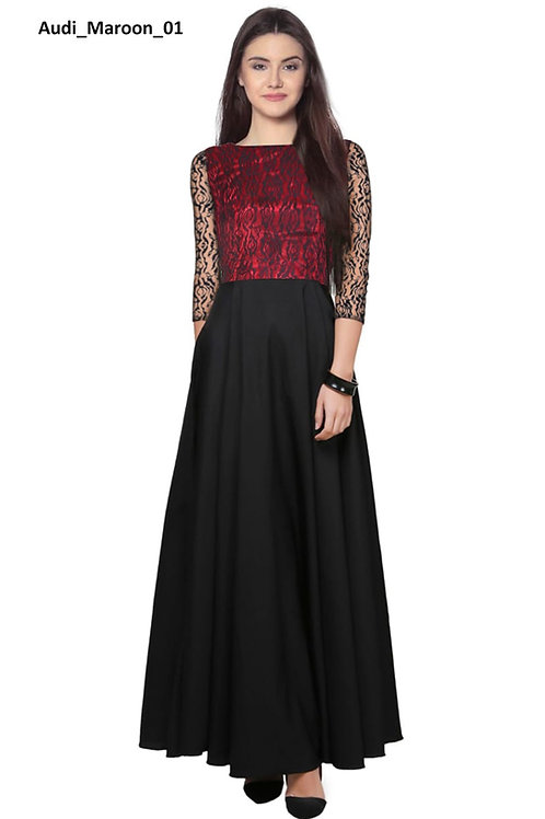 Audi Gown Fabric American Crepe and Rasal