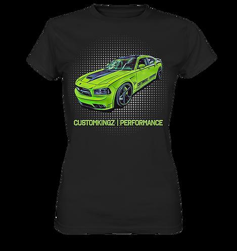 T-Shirt Damen schwarz Dodge Charger SRT-8