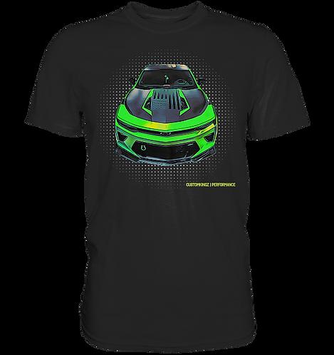 T-Shirt schwarz Chevrolet Camaro CPE 650 SC in grün