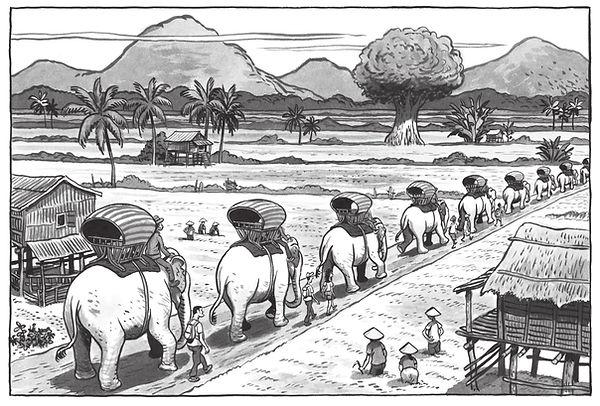 LA LONGUE MARCHE DES  ELEPHANTS_image 1.