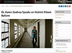 Dr. Karen Gedney Speaks on Holistic Prison Reform