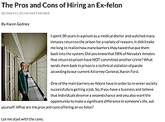 The Pros and Cons of Hiring an Ex-felon