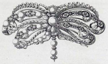 Bow Brooch Design, 17th Century.