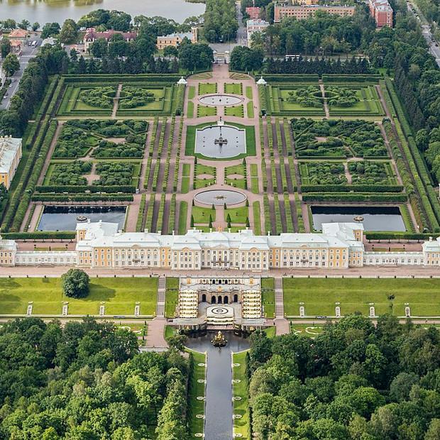 Upper Garden at Peterhof Palace near Saint Petersburg, Russia