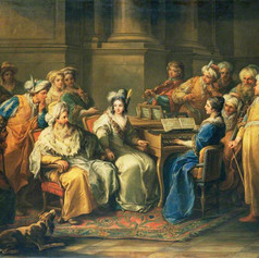 1737 - The Grand Turk giving a concert by Charles André van Loo