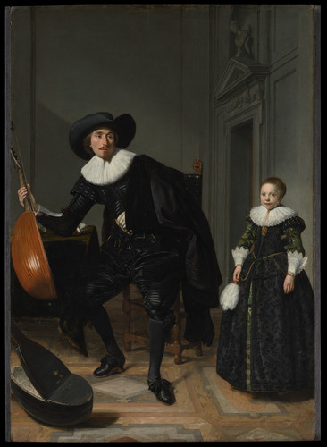 A Musician and His Daughter 1629