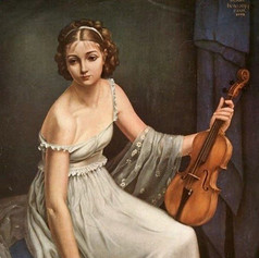 Early 20th Century. Violinist by Serge Petrovitch Ivanoff