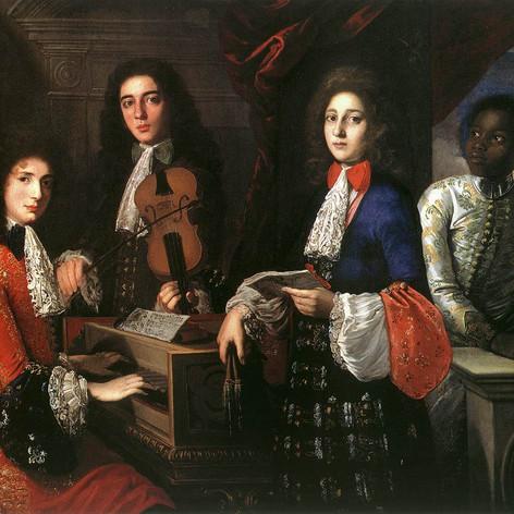 1687 - Portrait of Three Musicians of the Medici Court by Anton Domenico Gabbiani