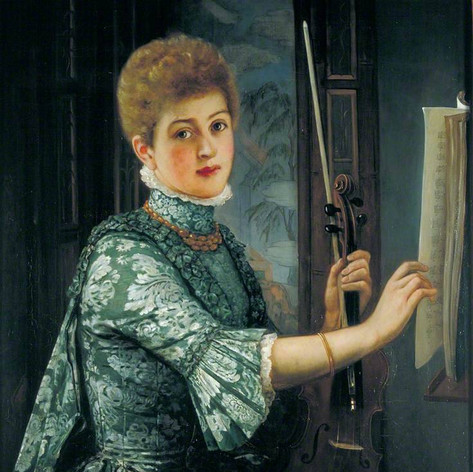 1886 - The Violinist by George Adolphus Storey
