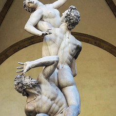 The Kidnapping of the Sabine Women by Giambologna, in the Loggia dei Lanzi in Florence