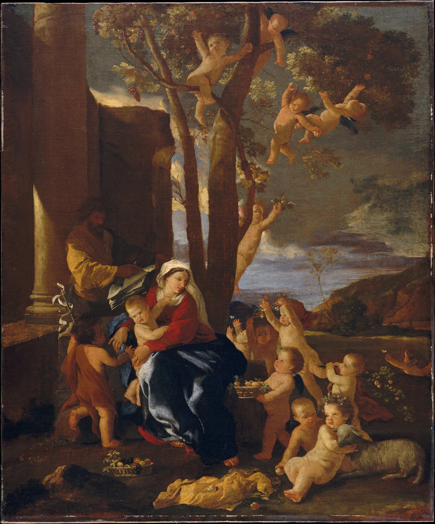 The Holy Family with Saint John the Baptist ca. 1627