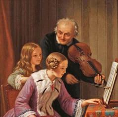1854 - Music Lesson by Basile De Loose