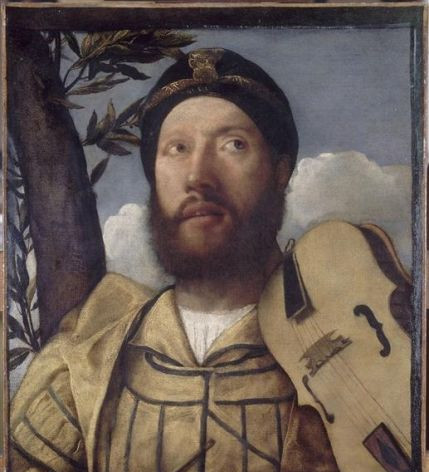 1520-30 Portrait of a Violinist by Giovanni Cariani