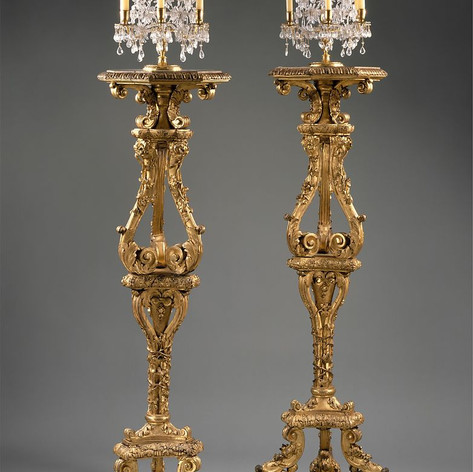Pair of candlestands ca. 1700 French