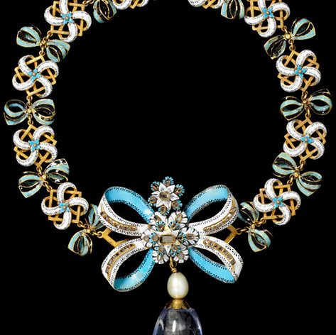 Necklace with Sapphire 1660