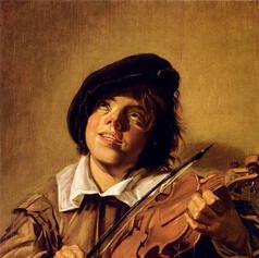 1626 - 1630 Boy Playing a Violin by Frans Hals