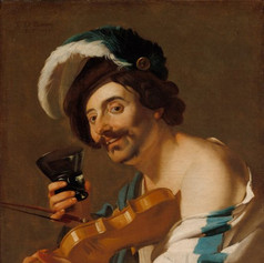 1623 - The Violin Player by Dirck van Baburen