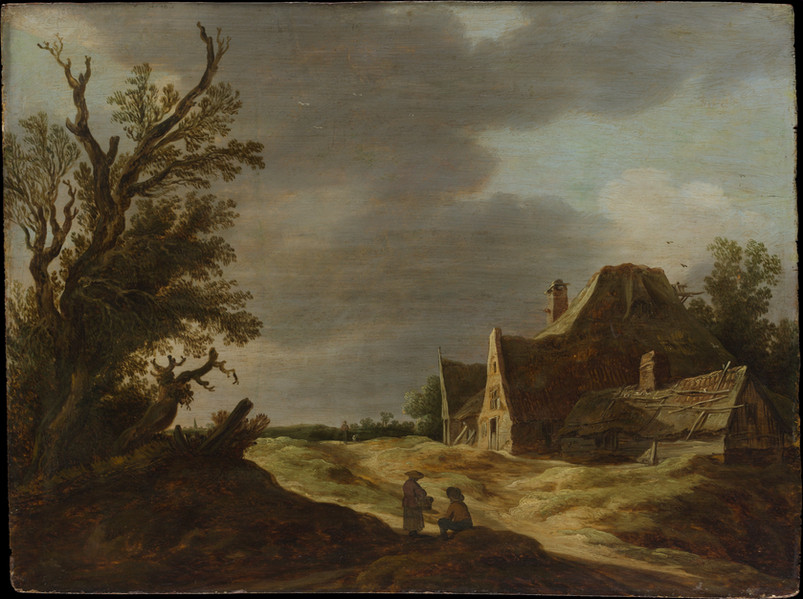 Sandy Road with a Farmhouse 1627