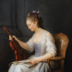 1773 - Portrait of a Violinist by Anne Vallayer-Coster