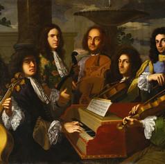 1685 - Musicians of the Medici court by Anton Domenico Gabbiani