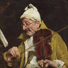 19th Centuary. A violin player sby Federico Andreotti