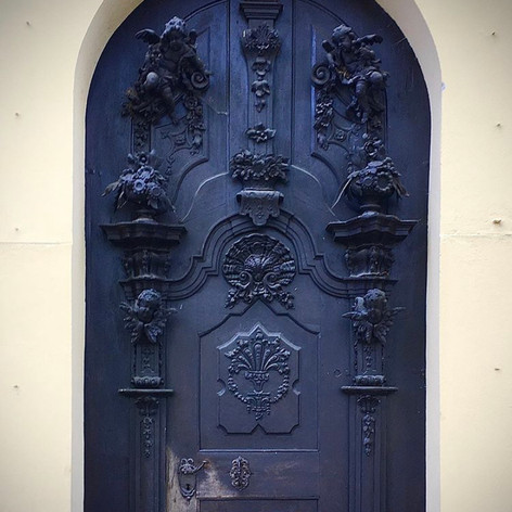 Donauwörth Abbey front door, Germany.