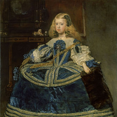 nfanta Margarita Teresa in a Blue Dress (1659) by Diego Velázquez.